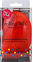 Parfüm, Parfüméria, kozmetikum Kompakt hajfésű, piros - Rolling Hills Compact Detangling Brush Red