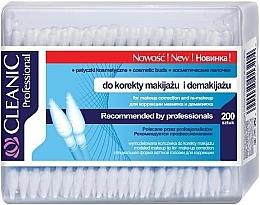 Parfüm, Parfüméria, kozmetikum Fültisztító pálcika sminkeltávolításhoz, 200 db. - Cleanic Professional