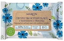 Parfüm, Parfüméria, kozmetikum Arc- és testtisztító törlőkendők búzavirág hidroláttal, 15 db - Marion