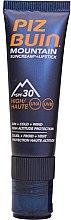 Parfüm, Parfüméria, kozmetikum Napvédő krém ajakra - Piz Buin Mountain Suncream + Lipstick SPF30