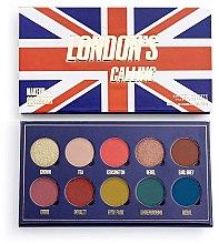 Parfüm, Parfüméria, kozmetikum Szemhéjfesték paletta, 10 árnyalat - Makeup Obsession London's Calling Eyeshadow Palette