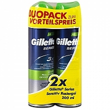 Parfüm, Parfüméria, kozmetikum Készlet - Gillette Series Sensitive Shaving Gel Dou Pack (shave/gel/2x200ml)