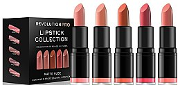Parfüm, Parfüméria, kozmetikum 5 rúzsból álló készlet - Revolution Pro 5 Lipstick Collection Matte Nude