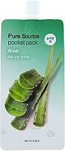 Parfüm, Parfüméria, kozmetikum Éjszakai arcmaszk aloe vera kivonattal - Missha Pure Source Pocket Pack Aloe