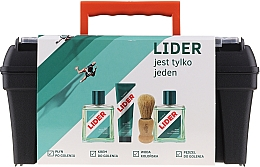 Parfüm, Parfüméria, kozmetikum Szett - Lider Classic (ash/lot/100ml + shav/cr/65g + edc/100ml + shav/brush + case)
