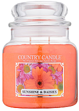 """Parfüm, Parfüméria, kozmetikum Illatgyertya """"Napsütés és margaréták"""" üvegben - Country Candle Sunshine & Daisies"""