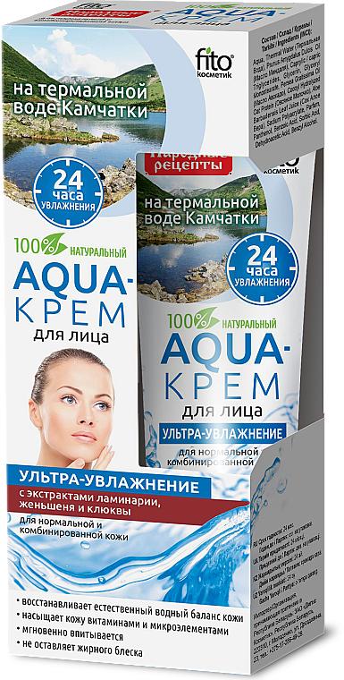 """Aqua-arckrém Kamcsatka termálvízén """"Ultra-hidratáló"""" laminárium, ginzeng és vörösáfonya kivonattal - Fito Kozmetikum"""