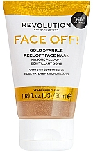 Parfüm, Parfüméria, kozmetikum Peeling-maszk - Revolution Skincare Face Off! Gold Glitter Face Off Mask