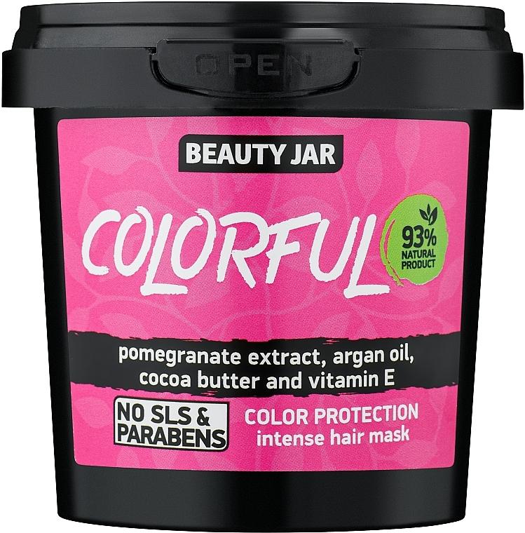 """Intenzív hajpakolás festett hajra """"Színvédelem"""" - Beauty Jar Colorful Intense Hair Mask"""