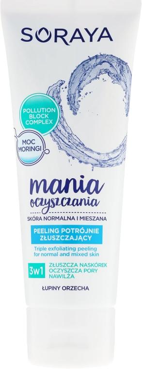 Bőrhámlasztó peeling normál és kombinált bőrre - Soraya Cleansing Mania Peeling Triple Exfoliating Peeling
