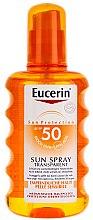 Parfüm, Parfüméria, kozmetikum Védő permet - Eucerin Sun Spray Transparent SPF 50