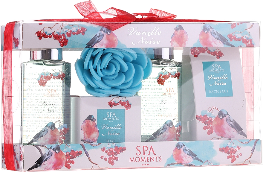 Szett - Spa Moments Vanille Noire (sh/gel/100ml+sh/gel/100ml+salf/50+soap/50g+sh/sponge)