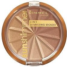 Parfüm, Parfüméria, kozmetikum Arcpúder - Rimmel Sunshimmer 3in1 Shimmering Bronzing Powder