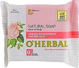 Parfüm, Parfüméria, kozmetikum Természetes szappan damaszt rózsa kivonattal - O'Herbal Natural Soap Damask Rose