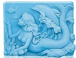 "Parfüm, Parfüméria, kozmetikum Glicerin szappan ""Tengeri szirén"" - Bulgarian Rose Glycerin Fragrant Soap Blue Mermaid"