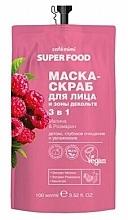 """Parfüm, Parfüméria, kozmetikum Mazk-radír arcra és dokoltázsra 3 az 1 """"Málna és rozmaring"""" - Cafe Mimi Super Food"""