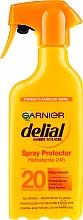 Parfüm, Parfüméria, kozmetikum Napvédő hidratáló spray - Garnier Delial Ambre Solaire 24h Hydration Spray Protector SPF20