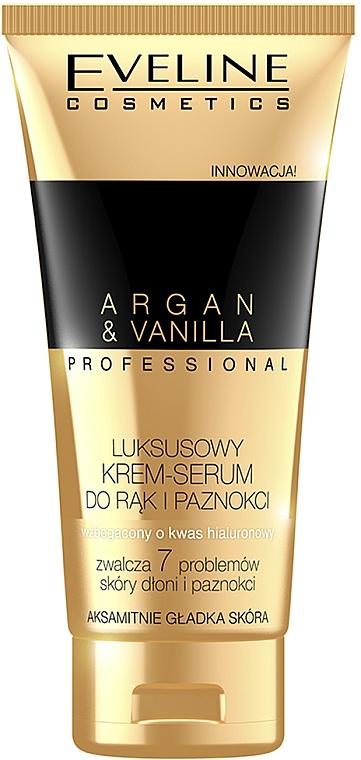 Kéz és körömápoló krém és szérum - Eveline Cosmetics Spa Professional Argan&Vanilla