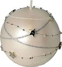 Parfüm, Parfüméria, kozmetikum Dekoratív gyertya, fehér, 10x10 cm - Artman Christmas Garland