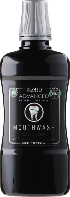 "Szájvíz ""Faszén"" - Beauty Formulas Advanced Charcoal Mouthwash"