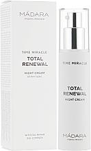 Parfüm, Parfüméria, kozmetikum Éjszakai arckrém - Madara Cosmetics Time Miracle Total Renewal