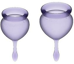 Parfüm, Parfüméria, kozmetikum Menstruációs kehely készlet, lila - Satisfyer Feel Good Menstrual Cups Lila