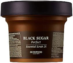 Parfüm, Parfüméria, kozmetikum Arcpeeling fekete cukorral - SkinFood Black Sugar Perfect Essential Scrub 2X