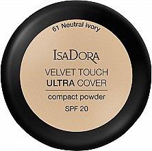 Parfüm, Parfüméria, kozmetikum Arcpúder - IsaDora Velvet Touch Ultra Cover Compact Powder SPF 20 (61 -Neutral Ivory)