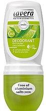 """Parfüm, Parfüméria, kozmetikum Roll-on dezodor """"Vasfű és lime"""" - Lavera 24h Deodorant"""