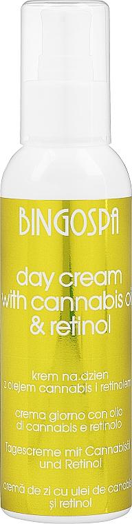 Kenderolaj és retinol krém - BingoSpa Day Cream With Cannabis Oil Retinol And Zea Mays
