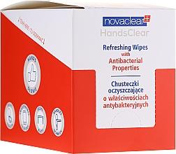 Parfüm, Parfüméria, kozmetikum Tisztító törlőkendő antibakteriális hatással - Novaclear Hands Clear Refreshing Wipe With Antibacterial Properties