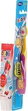 Parfüm, Parfüméria, kozmetikum Fogkefe szett sárga rózsaszínnel - Bobini 2-7 (toothbrush + toothpaste/75ml)