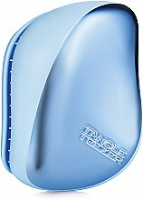 Parfüm, Parfüméria, kozmetikum Kompakt hajkefe - Tangle Teezer Compact Styler Sky Blue Delight Chrome