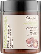 Parfüm, Parfüméria, kozmetikum Erősítő maszk makadámia olajjal - Kosswell Professional Macadamia Reinforce Mask