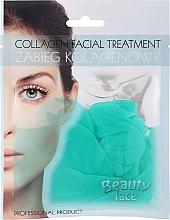 Parfüm, Parfüméria, kozmetikum Kollagén maszk zöld teával és vitaminokkal - Beauty Face Collagen Hydrogel Mask