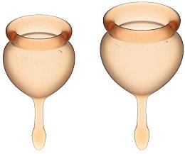 Parfüm, Parfüméria, kozmetikum Menstruációs kehely készlet, narancssárga - Satisfyer Feel Good Menstrual Cup Orange