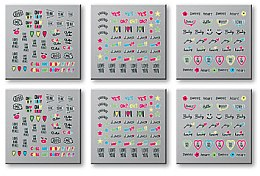 Parfüm, Parfüméria, kozmetikum Körömdíszítő matricák, 6db.42300 - Top Choice Words Neon