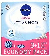 "Parfüm, Parfüméria, kozmetikum Nedves kendő ""Baba"" 4x63db - Nivea Baby Soft & Cream"