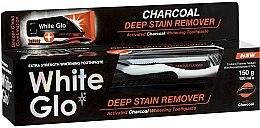 Parfüm, Parfüméria, kozmetikum Készlet - White Glo Charcoal Deep Stain Remover Toothpaste (t/paste 100 ml + t/brush)