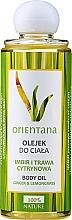 """Parfüm, Parfüméria, kozmetikum """"Gyömbér és citromfű"""" testápoló olaj - Orientana Ginger And Lemongrass Body Oil"""