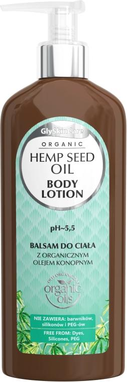 Testápoló organikus kender olajjal - GlySkinCare Hemp Seed Oil Body Lotion