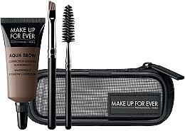 Parfüm, Parfüméria, kozmetikum Szett - Make Up For Ever Aqua Brow Eyebrow Corrector Kit (corrector/7ml + brush/2pcs + bag) (15 -Light Brown)