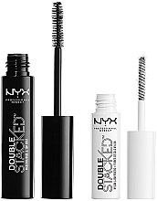 Parfüm, Parfüméria, kozmetikum Szempillaformázó szett - NYX Professional Makeup Double Stacked Mascara (01-Black)