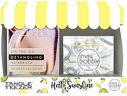 Parfüm, Parfüméria, kozmetikum Készlet - Tangle Teezer Compact Styler Hello Sunshine Set (brush/1szt + hair/tie/1szt)