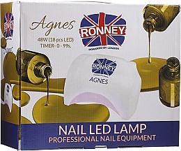 Parfüm, Parfüméria, kozmetikum Manikűr LED lámpa, fekete - Ronney Professional Agnes Pro LED 48W (GY-LED-032)