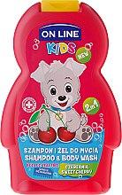 "Parfüm, Parfüméria, kozmetikum Tusoló balzsam ""Meggy"" - On Line Kids Cherry Shampoo & Body Wash"