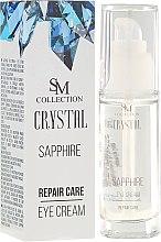 Parfüm, Parfüméria, kozmetikum Természetes zafír regeneráló szemkrém - SM Collection Crystal Sapphire Eye Cream