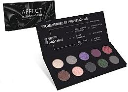 Parfüm, Parfüméria, kozmetikum Préselt szemhéjfesték paletta - Affect Cosmetics Smoky And Shiny Eyeshadow Palette