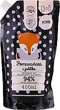"""Parfüm, Parfüméria, kozmetikum Természetes baba tusfürdő """"Narancs és alma"""" - Yope Shower Gel (doy pack)"""