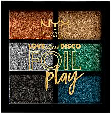 Parfüm, Parfüméria, kozmetikum Szemhéjpúder paletta - NYX Professional Makeup Love Lust Disco Foil Play Pigment Palette